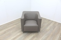 Brunner Beige Leather Reception Chair - Thumb 2