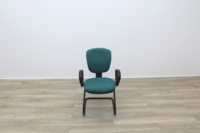 Green Fabric Meeting Chairs - Thumb 2
