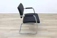 Black Faux Leather Meeting Chair - Thumb 6