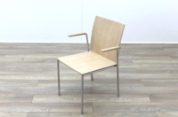 Brunner Oak Meeting Chair with Armpads - Thumb 3