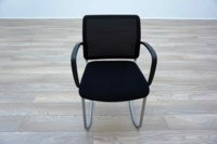 Black Mesh / Fabric Cantilever Office Meeting Chairs - Thumb 3