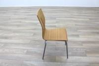 Beech Bentwood Stacking Office Canteen Chairs - Thumb 6