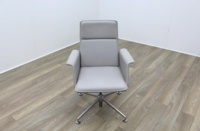 Brunner Grey Leather Meeting Chair - Thumb 2