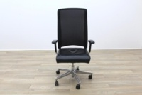 Interstuhl Black Leather Seat Operator Chair High Back - Thumb 4