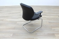 Orangebox Joy Black Leather Executive Office Meeting Chair - Thumb 7