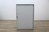 Triumph White Metal 1200mm Tambour Office Storage Cupboards - Thumb 2