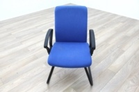 Blue Fabric Cantilever Office Meeting Chair - Thumb 2