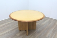 Maple round table with walnut inlay - Thumb 2