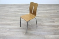 Beech Bentwood Stacking Office Canteen Chairs - Thumb 3