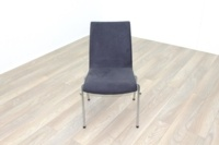 Brunner Grey Velour Meeting Chair - Thumb 2