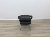Black Faux Leather Meeting Chairs With Folding Back - Thumb 7