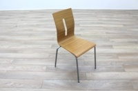 Beech Bentwood Stacking Office Canteen Chairs - Thumb 5