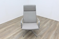 Brunner Light Grey Leather Executive Chair - Thumb 2