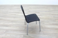 Black Wooden Office Canteen Chairs - Thumb 6