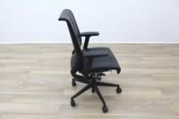 Steelcase Think Black Leather Office Task Chairs - Thumb 6