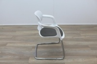 Allermuir A781 White with Grey Seat Meeting Chair - Thumb 6