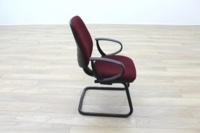 President Burgundy Fabric Office Meeting Chairs - Thumb 6