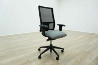 Re-Upholstered in Any Colour - Mesh Back Multifunction Office Task Chairs - Thumb 2