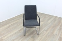 Brunner Fina Grey Fabric Cantilever Meeting Chair - Thumb 2