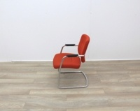 Orange Meeting Chairs With Chrome Frame - Thumb 5