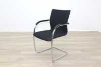 Brunner Black Fabric Cantilever Meeting Chair - Thumb 3