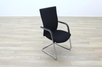 Black Fabric High Back Cantilever Office Meeting Chairs - Thumb 5