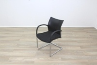 Herman Miller Black Fabric Seat Black Polymer Back Office Meeting Chairs - Thumb 4