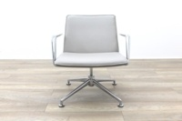 Brunner Light Grey Leather Meeting Chair - Thumb 4