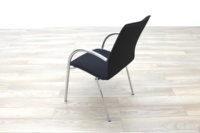 Black Fabric / Chrome Office Meeting Chairs - Thumb 7