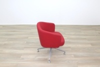 Orangebox HAY Red Fabric Office Reception Tub Chairs - Thumb 6