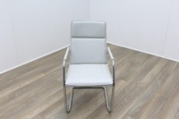 Brunner White Leather Meeting Chair - Thumb 2