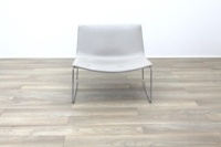 Arper Catifa 80 Sled Grey Leather Reception Chair - Thumb 4