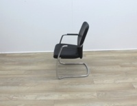 Black Leather Meeting Chairs - Thumb 4