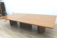 Walnut Rectangular Office Meeting Table - Thumb 4