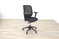 Orangebox Joy-12 Black Mesh / Fabric Office Task Chairs - Thumb 2