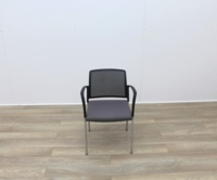Boss Stacking Meeting Chairs Black Back And Grey Seat - Thumb 2