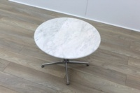 Circular Marble Table With Chrome Legs - Thumb 3