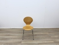 Wooden Canteen Chairs With Chrome Legs - Thumb 3