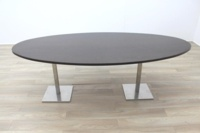 Walnut Oval Shape Office Meeting Table - Thumb 3