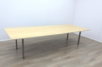 Golden Maple Veneer Office Meeting Table - Thumb 2