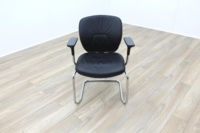 Orangebox Joy Black Leather Executive Office Meeting Chair - Thumb 3