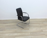 Black Leather Meeting Chairs - Thumb 6