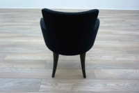 Black Patterned Office Reception Tub / Meeting Chairs - Thumb 5