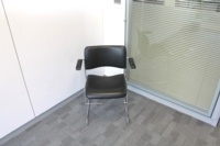 Black Leather Meeting Chairs With Chrome Legs - Thumb 2