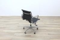 Eames Style Black Ribbed Office Task Chair - Thumb 7