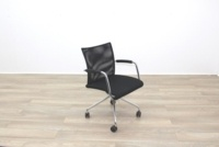 Zuco Visita Black Fabric Seat / Black Mesh Back Office Meeting Chair - Thumb 5