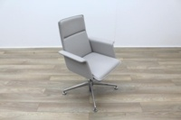 Brunner Grey Leather Meeting Chair - Thumb 5