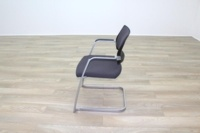 Brunner Dark Grey Checkered Fabric Office Meeting Chairs - Thumb 4