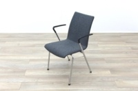 Brunner Light Grey Fabric Meeting Chair with Armrests - Thumb 3