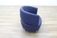 Blue Leather Office Reception Tub Chairs - Thumb 6